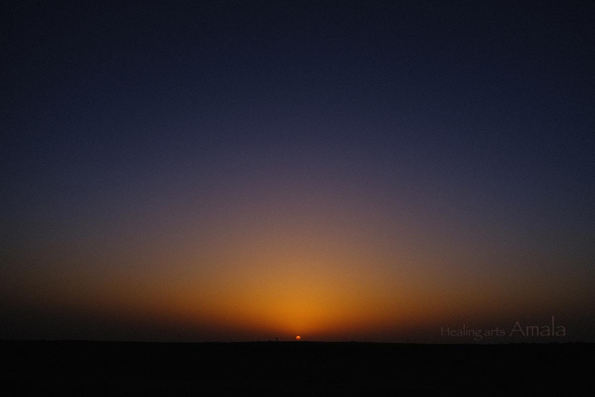 芦屋市 マッサージ Healing arts Amala インドの写真 砂漠の夕日