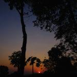 ケララ、シヴァナンダヨーガアシュラム、夕日。by 芦屋のマッサージサロン、ヒーリングアーツあまら